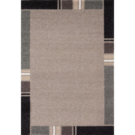 Tapis contemporain en polypropylène beige Wood