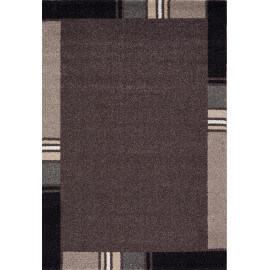 Tapis contemporain en polypropylène marron Wood