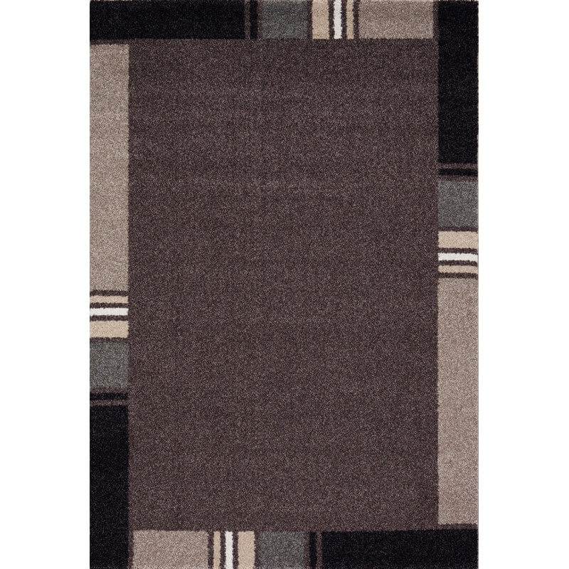 tapis contemporain en polypropyl ne marron wood. Black Bedroom Furniture Sets. Home Design Ideas