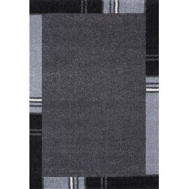 Tapis contemporain en polypropylène gris Wood