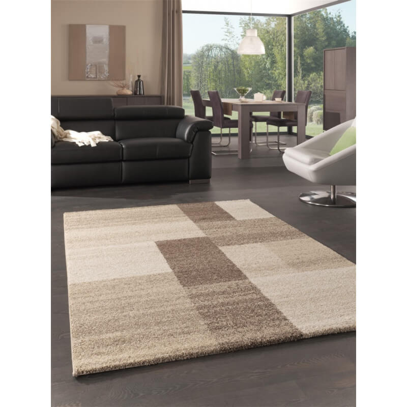 Tapis vintage pour salon beige manfredini for Tapis pour salon gris