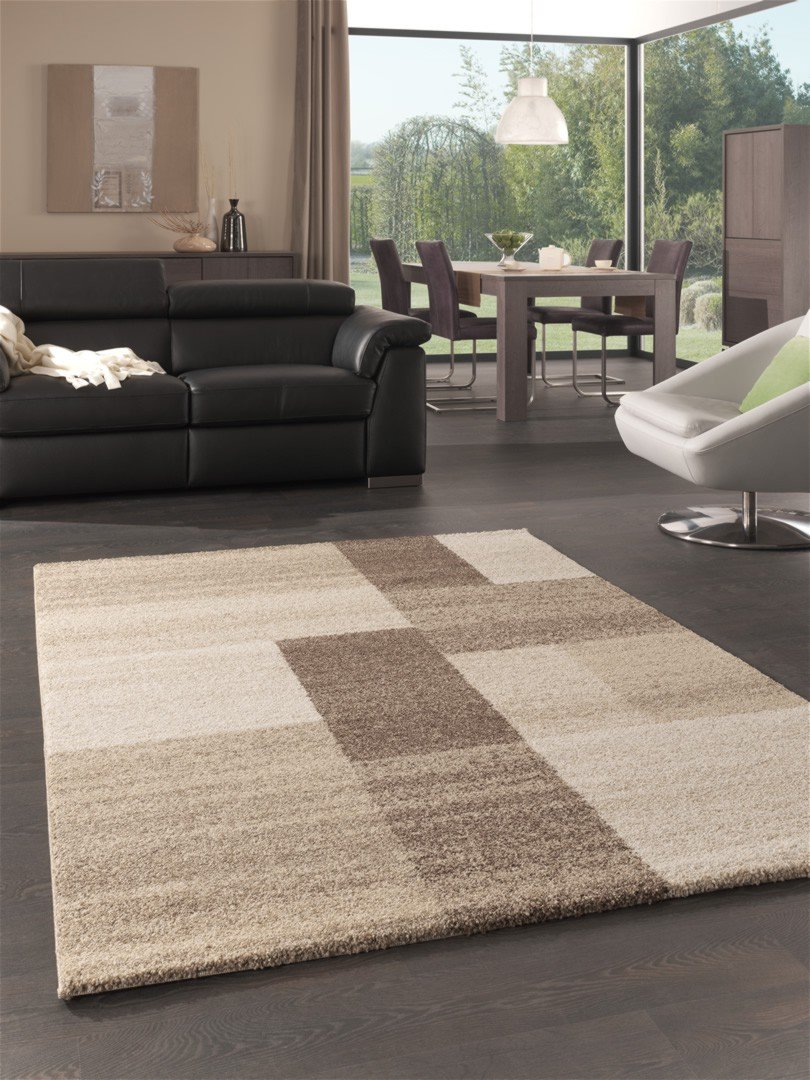 Tapis salon beige et noir for Tapis salon but