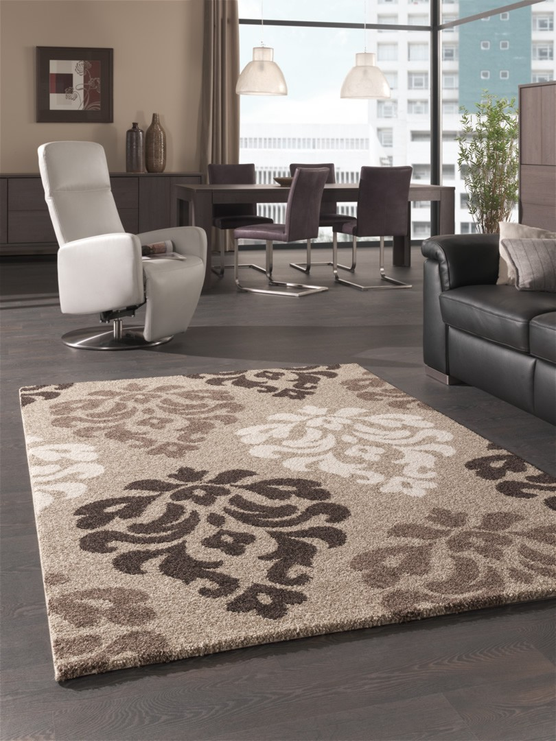 tapis moderne beige. Black Bedroom Furniture Sets. Home Design Ideas
