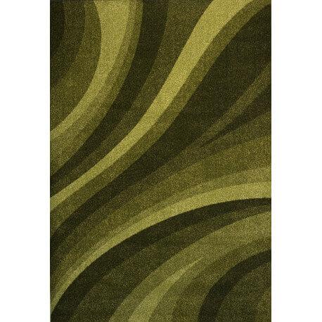 Tapis rectangulaire à courtes mèches vert Tenor