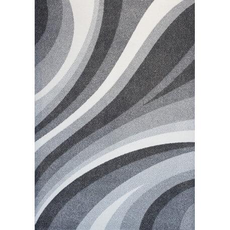 Tapis rectangulaire à courtes mèches gris Tenor