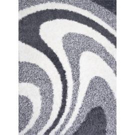Tapis de salle à manger shaggy design gris Ethan