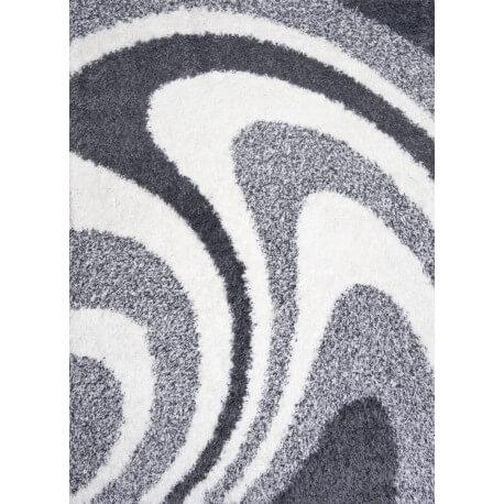Tapis de salon shaggy design gris Ethan