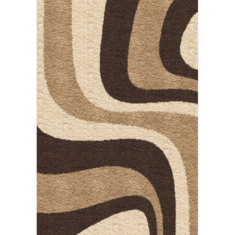 tapis shaggy moderne beige woop. Black Bedroom Furniture Sets. Home Design Ideas
