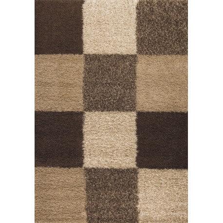 tapis en damier shaggy beige deauville. Black Bedroom Furniture Sets. Home Design Ideas