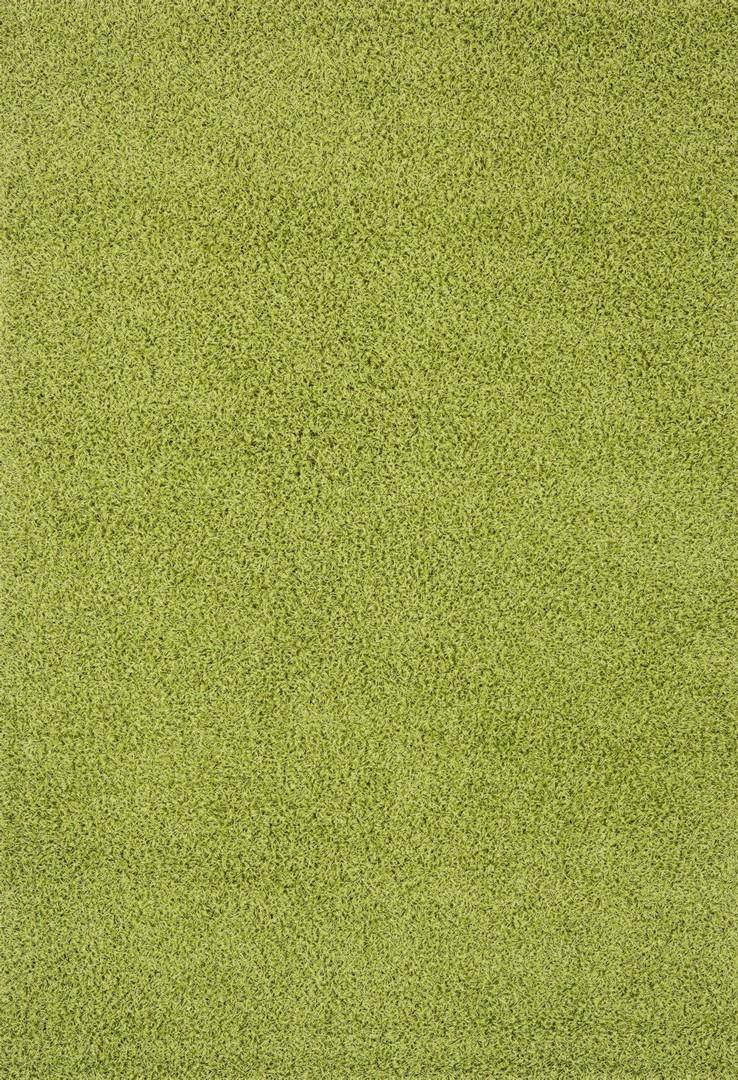 Tapis à longues mèches uni en polypropylène vert Cravel