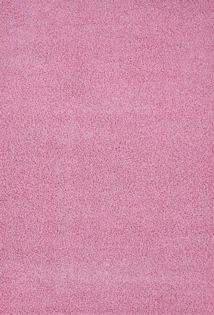 Tapis à longues mèches uni en polypropylène rose Cravel