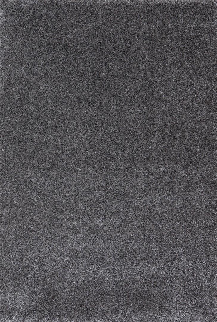 Tapis en polyester shaggy uni gris Foster