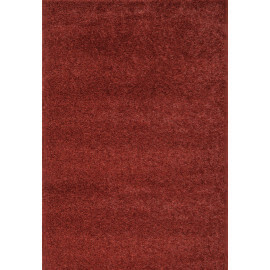 Tapis en polyester shaggy uni terre Foster