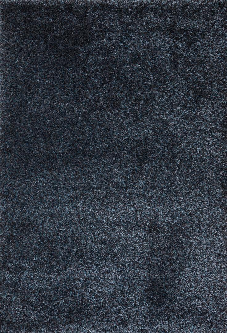 Tapis en polyester shaggy uni turquoise et noir foster for Tapis noir et turquoise