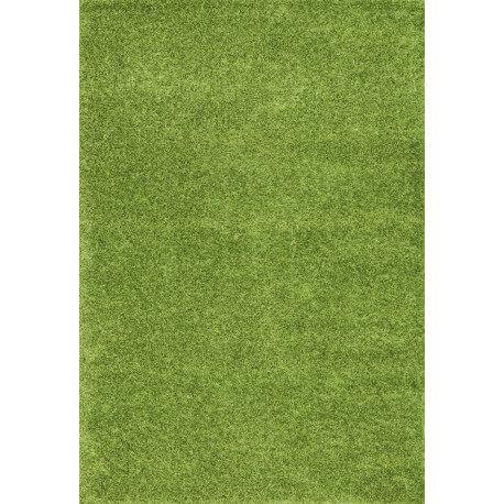 Tapis en polyester shaggy uni vert Foster