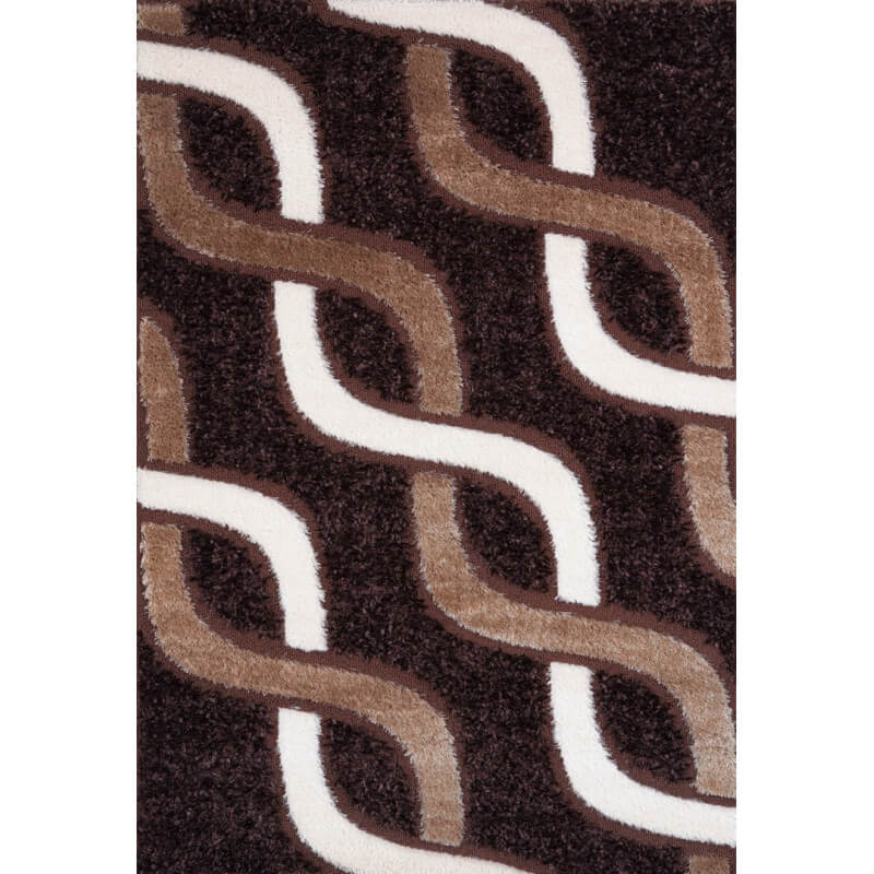 tapis moderne pour salon shaggy marron kolyos. Black Bedroom Furniture Sets. Home Design Ideas