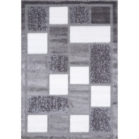Tapis en polyester shaggy gris Royster