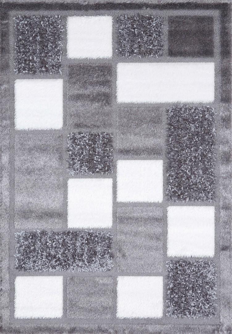 f1fa601663e637 Tapis en polyester shaggy gris Royster
