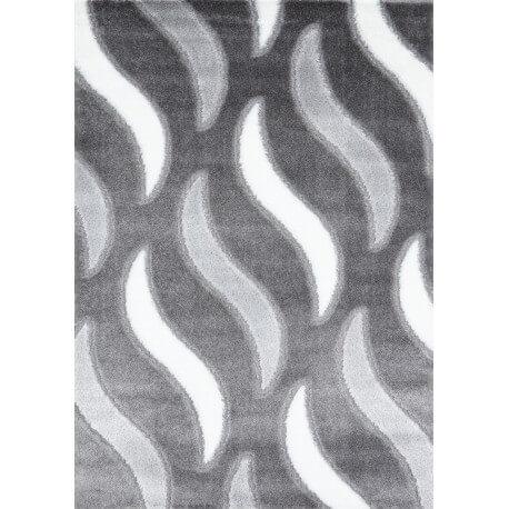 Tapis de salon shaggy moderne gris Vaclave