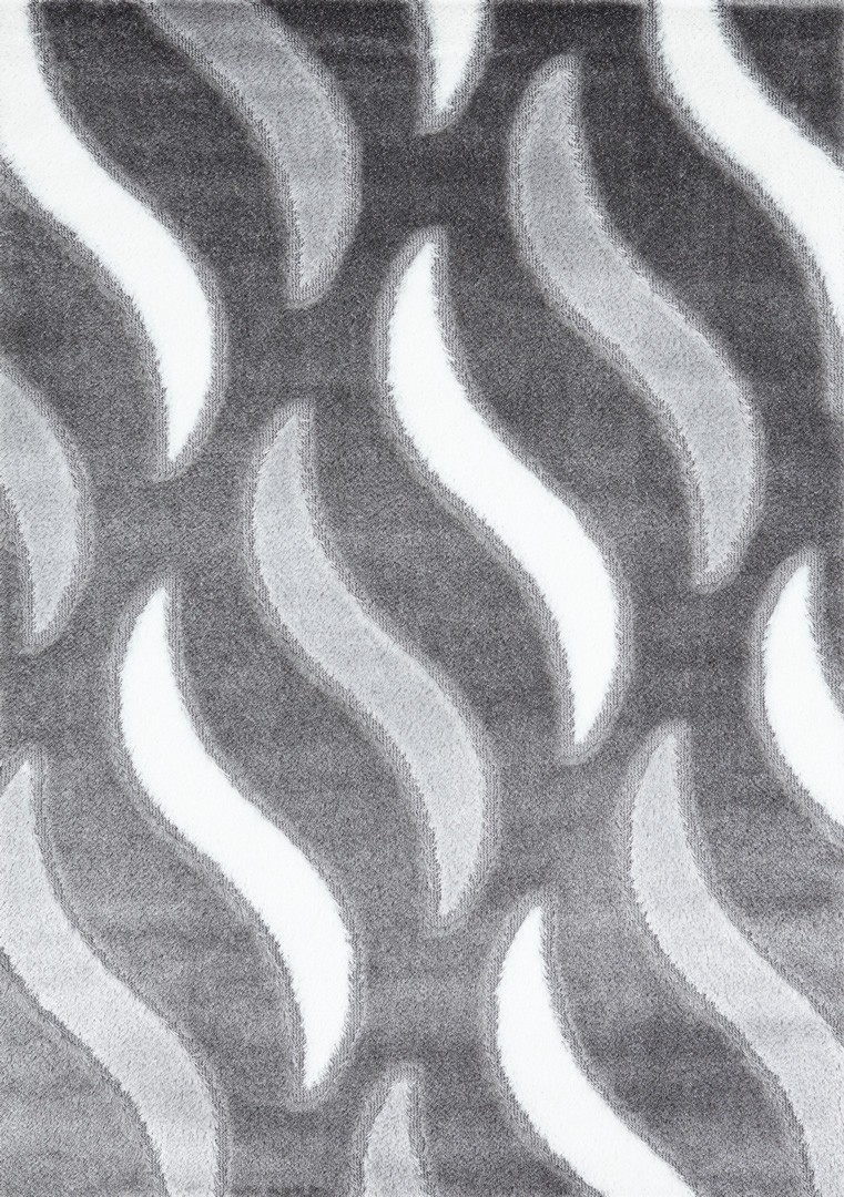 Tapis shaggy moderne gris Vaclave