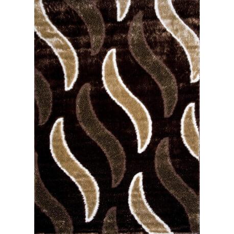 Tapis de salon shaggy moderne marron Vaclave
