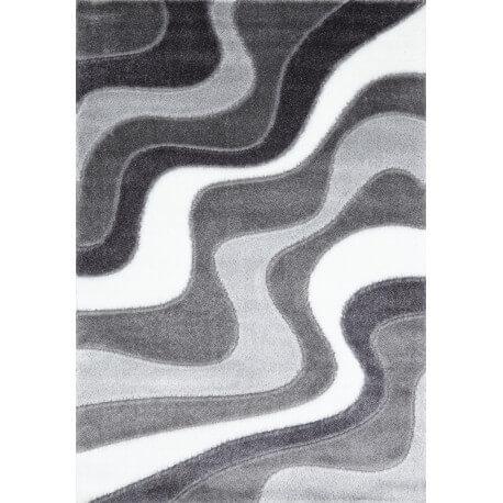 Tapis design gris shaggy Octavio