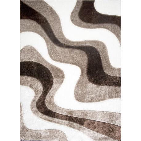 Tapis design beige shaggy Octavio