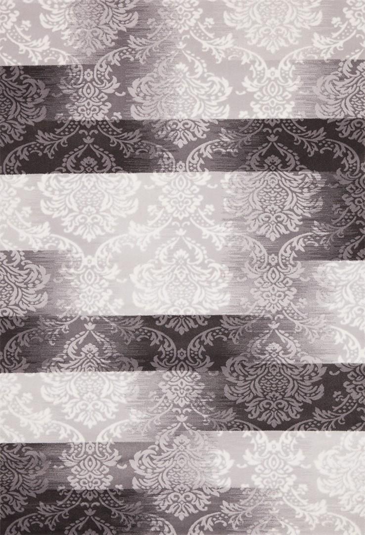 Tapis en acrylique gris Luxor