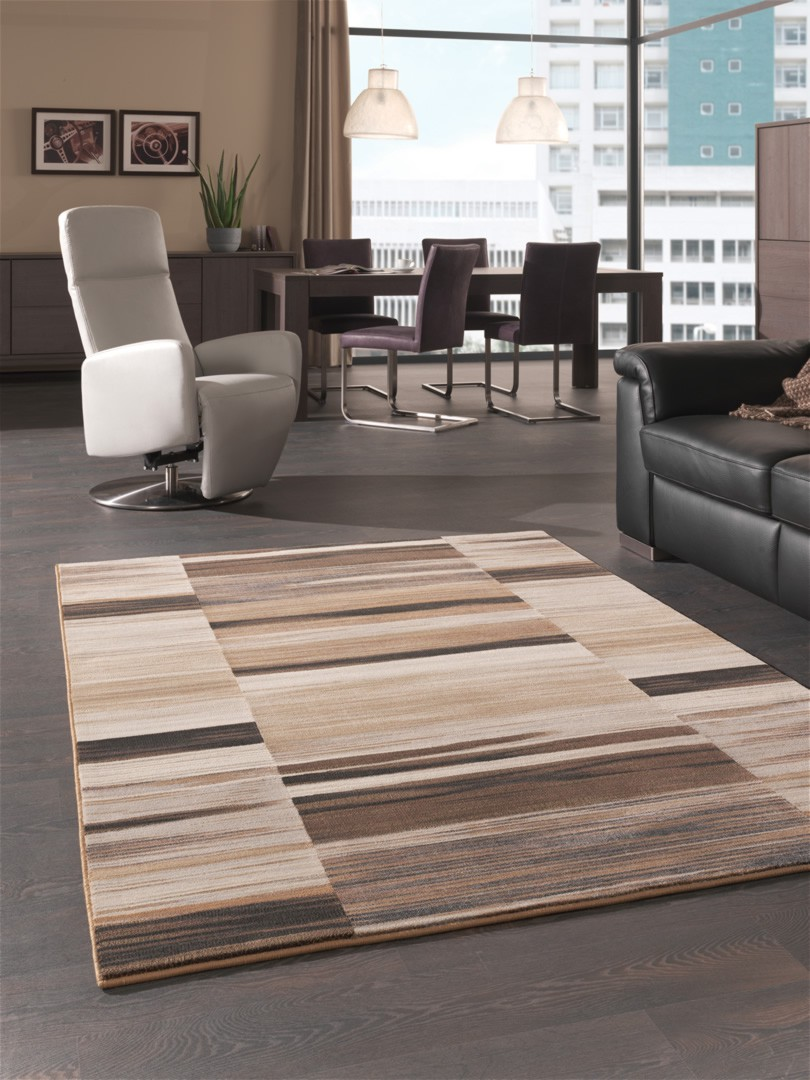 Tapis Beige De Salon A Courtes Meches Wall