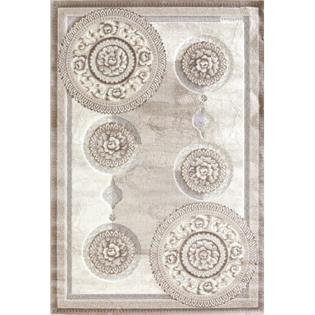 Tapis contemporain beige en acrylique Windsor