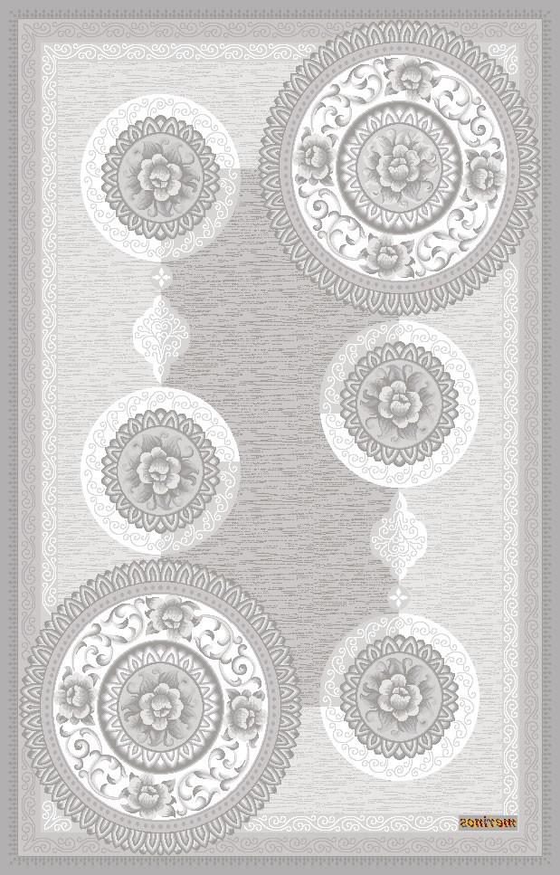 Tapis contemporain gris en acrylique Windsor
