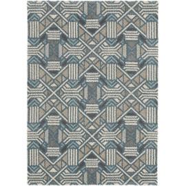 Tapis bleu design pour salon Dart Gatsby