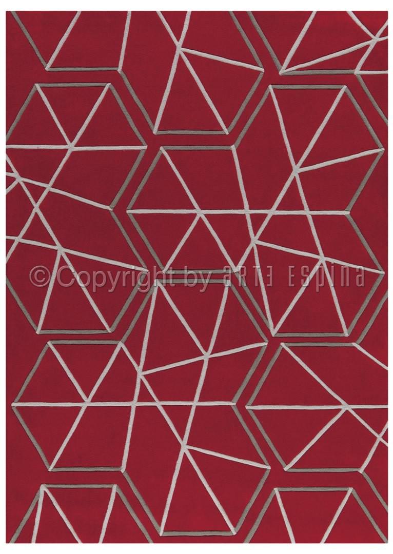Tapis de salon rouge Kinetic Arte Espina
