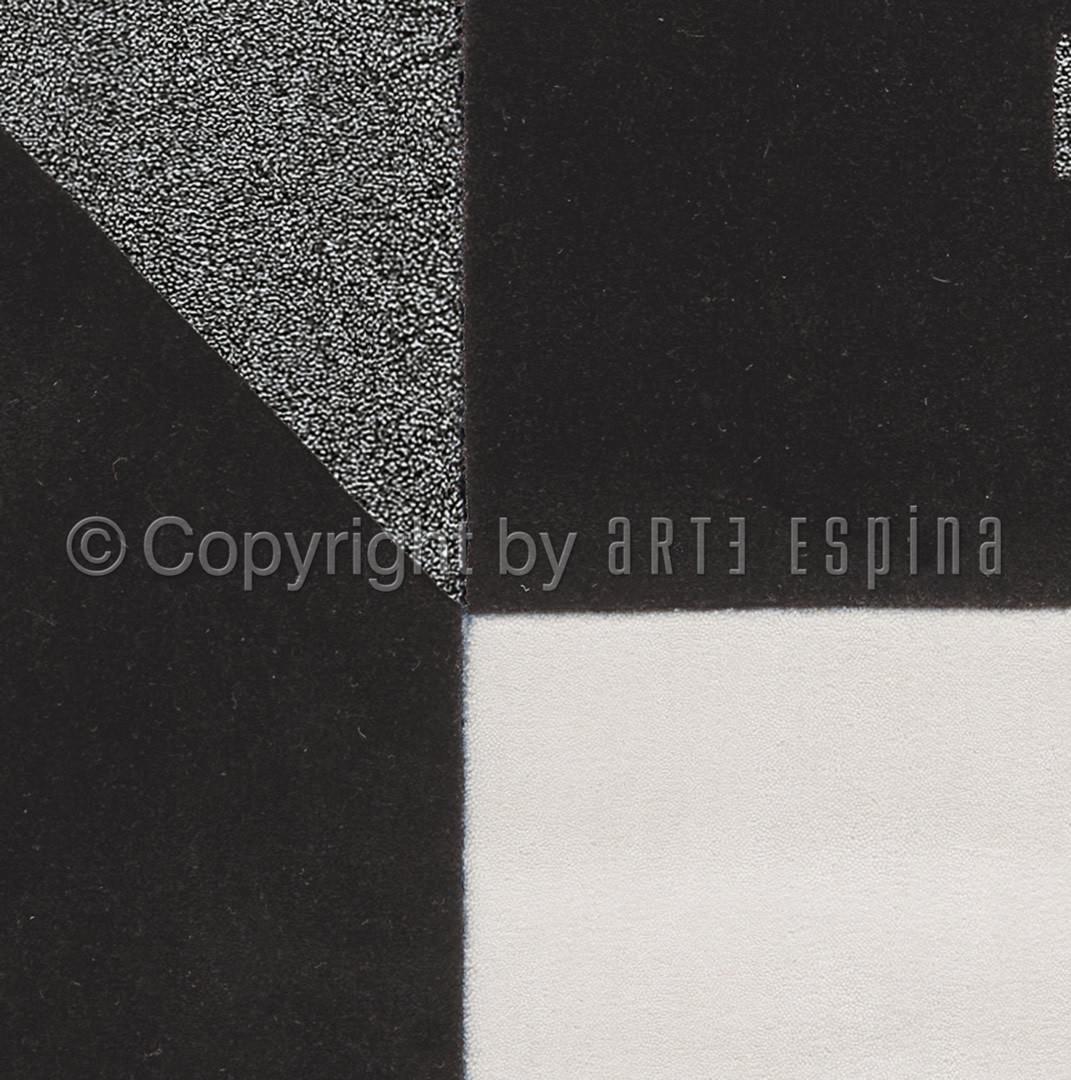 Tapis noir pour salon Monochrome Arte espina
