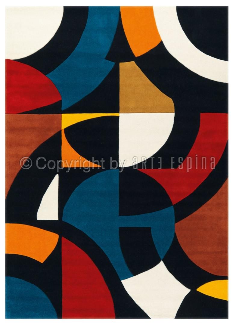 Tapis en acrylique multicolore Under Construction Arte Espina
