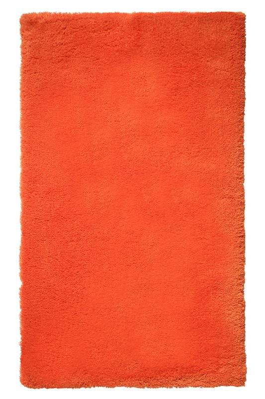 Tapis de bain shaggy antidérapant orange Event Esprit Home