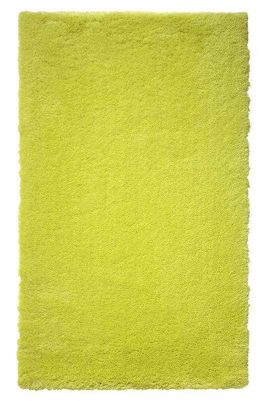 Tapis de bain shaggy antidérapant vert Event Esprit Home