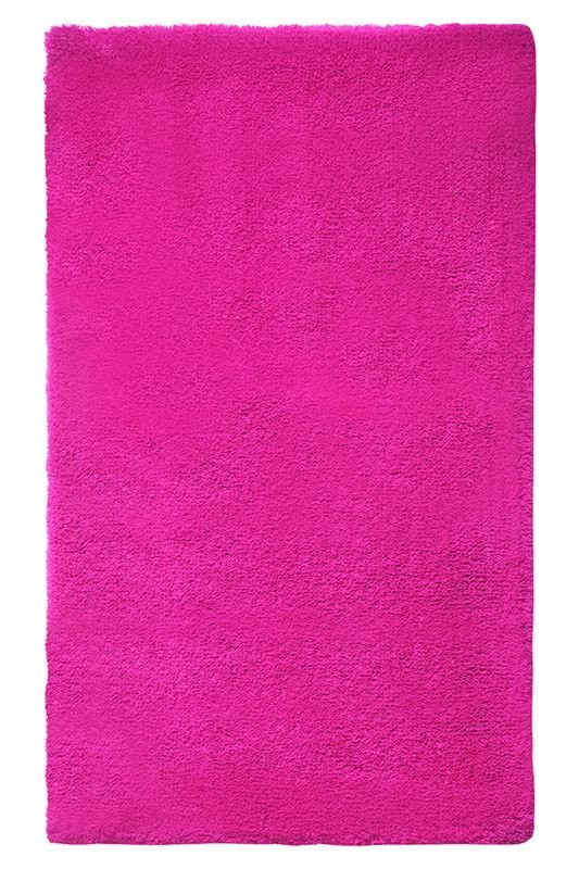 Tapis de bain shaggy antidérapant rose Event Esprit Home