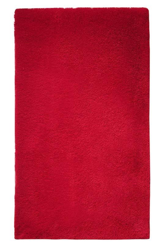 Tapis de bain shaggy antidérapant rouge Event Esprit Home