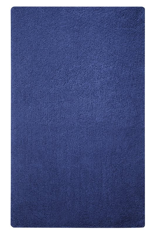 Tapis de bain shaggy antidérapant bleu marine Event Esprit Home