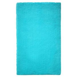 Tapis de bain shaggy antidérapant turquoise Event Esprit Home