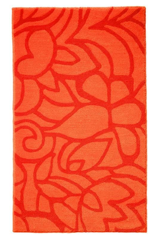 Tapis de salle-de-bain antidérapant orange Flower Shower Esprit Home
