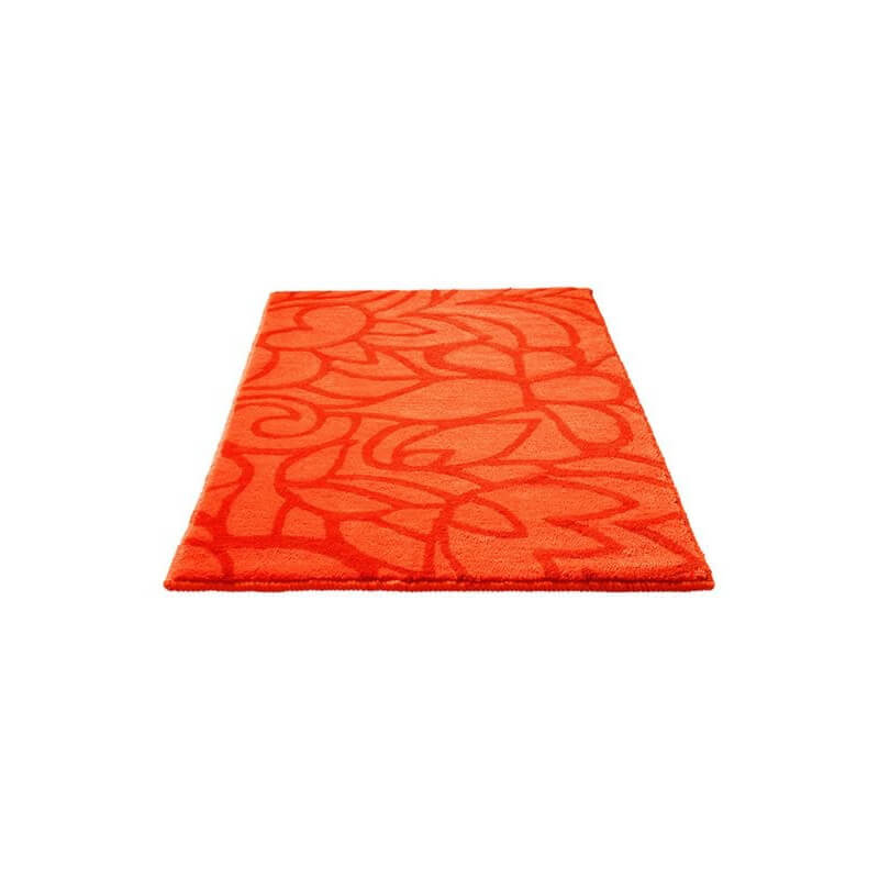 tapis de salle de bain antid rapant orange flower shower esprit home