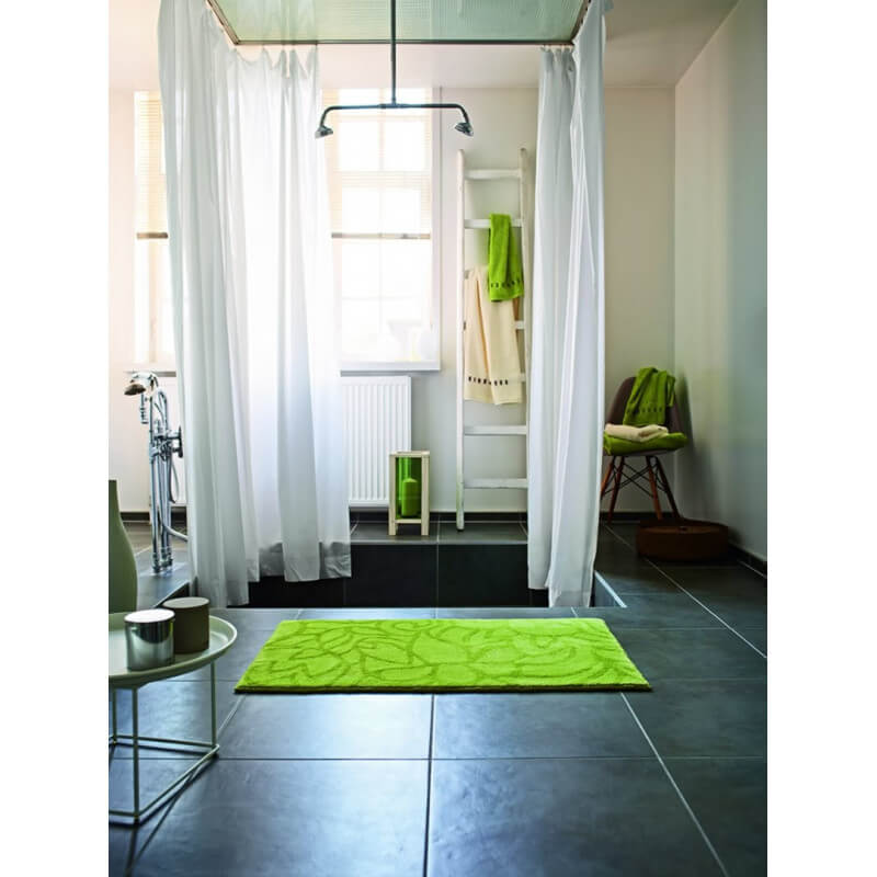 tapis de salle de bain antid rapant vert flower shower. Black Bedroom Furniture Sets. Home Design Ideas