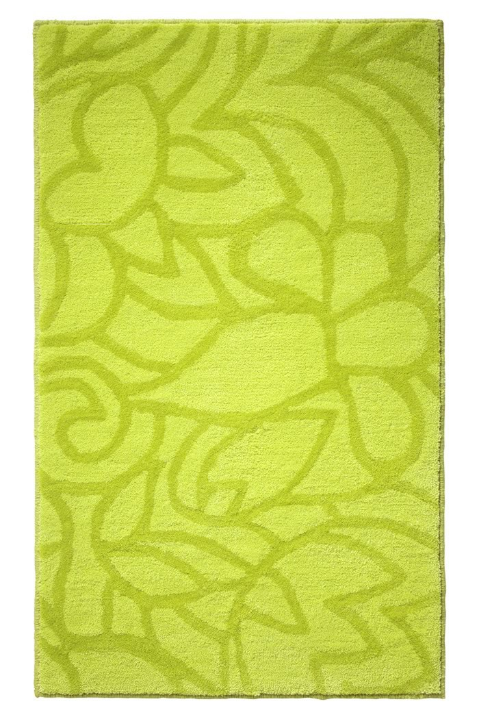 Tapis de salle-de-bain antidérapant vert Flower Shower Esprit Home