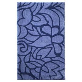 Tapis de salle-de-bain antidérapant bleu Flower Shower Esprit Home