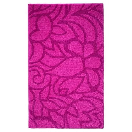 Tapis de salle-de-bain antidérapant rose Flower Shower Esprit Home