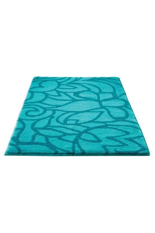 tapis de bain antid rapant turquoise flower shower esprit home. Black Bedroom Furniture Sets. Home Design Ideas