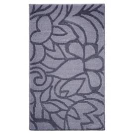 Tapis de salle-de-bain antidérapant gris Flower Shower Esprit Home
