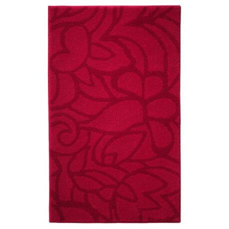 Tapis de salle-de-bain antidérapant rouge Flower Shower Esprit Home